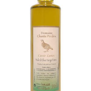 Huile olive vierge extra cuvée Lunes, domaine chante perdrix