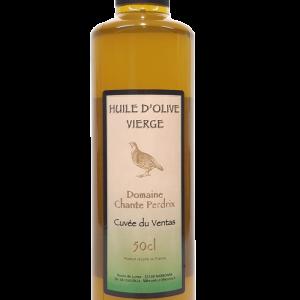 Huile olive vierge extra cuvée Ventas, domaine chante perdrix