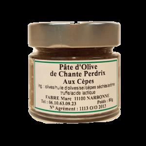 pâte olive cêpes domaine chante perdrix