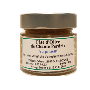 pâte olive piment, domaine chante perdrix