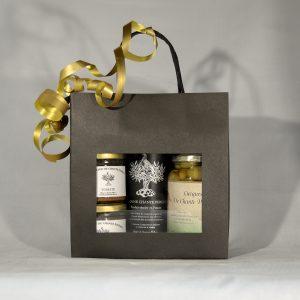 Coffret cadeau tapenades, Lucques et huile d'olive
